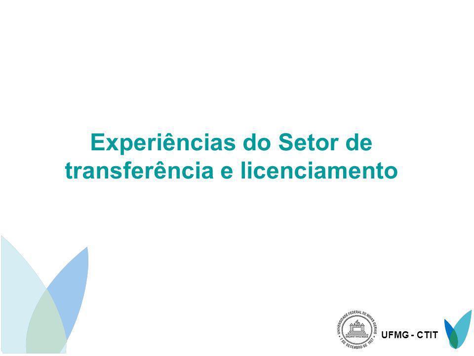 UFMG - CTIT Experiências do Setor de transferência e licenciamento