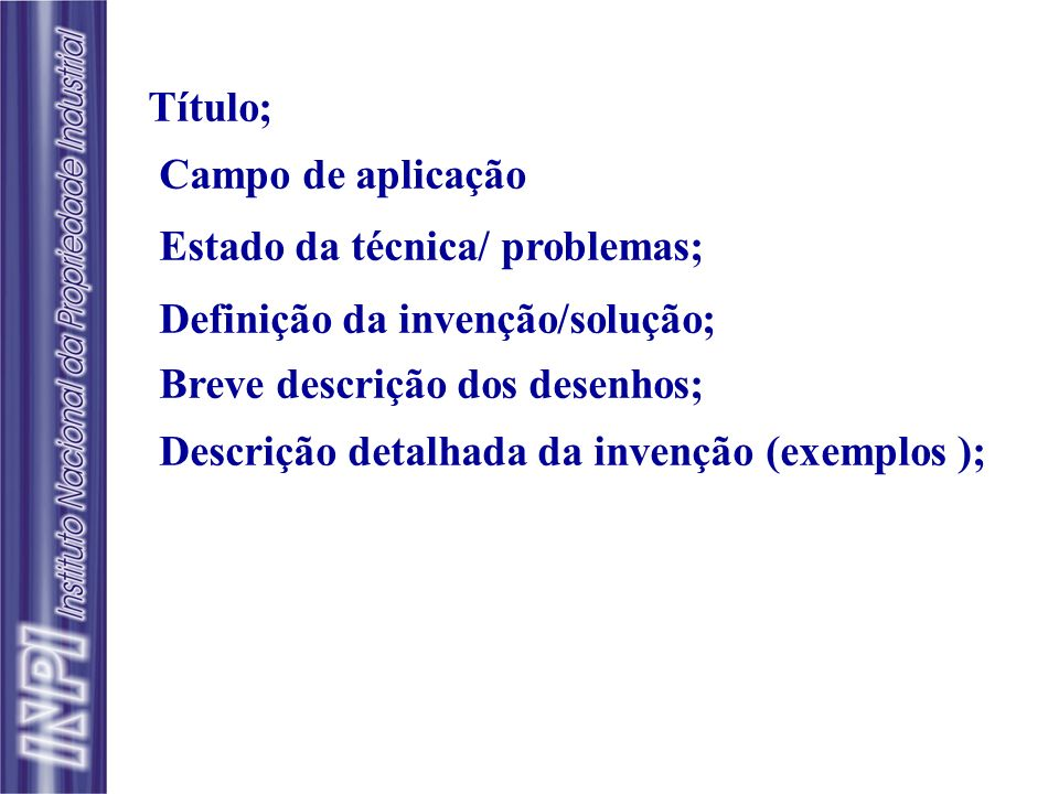 Frase de transição: Segue o preâmbulo No Brasil começa com caracterizado por...