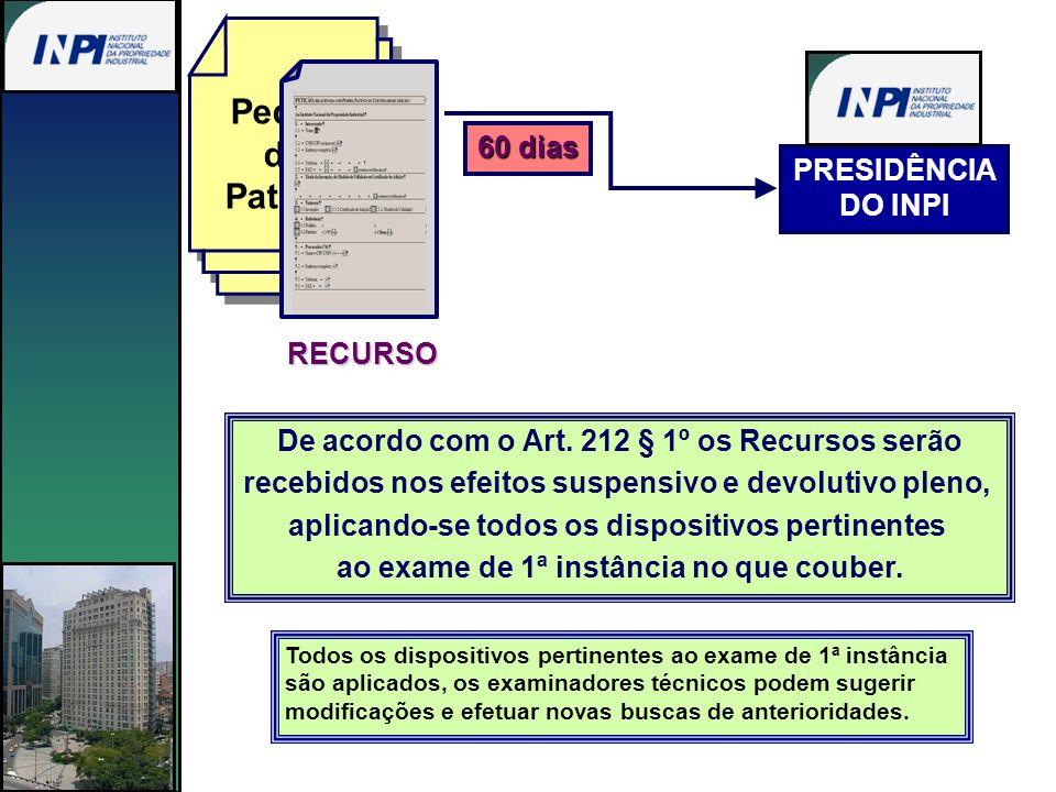 De acordo com o Art. 212 § 1º os Recursos serão recebidos nos efeitos suspensivo e devolutivo pleno, aplicando-se todos os dispositivos pertinentes ao