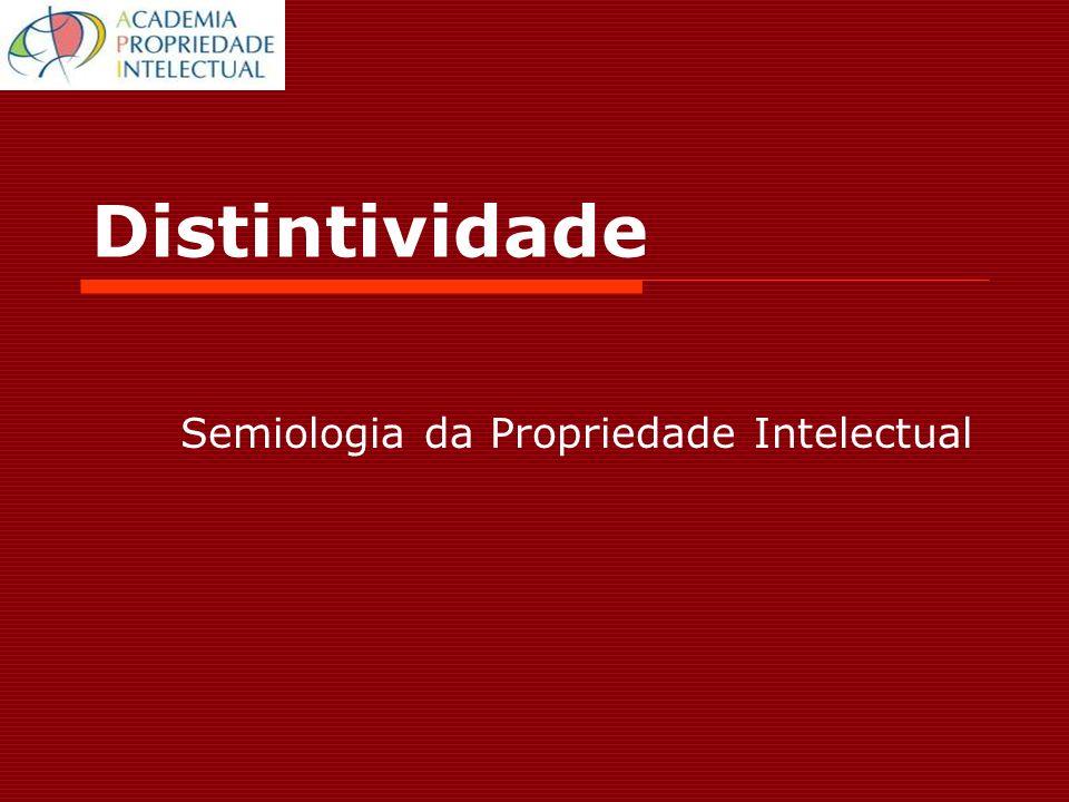 Distintividade Semiologia da Propriedade Intelectual