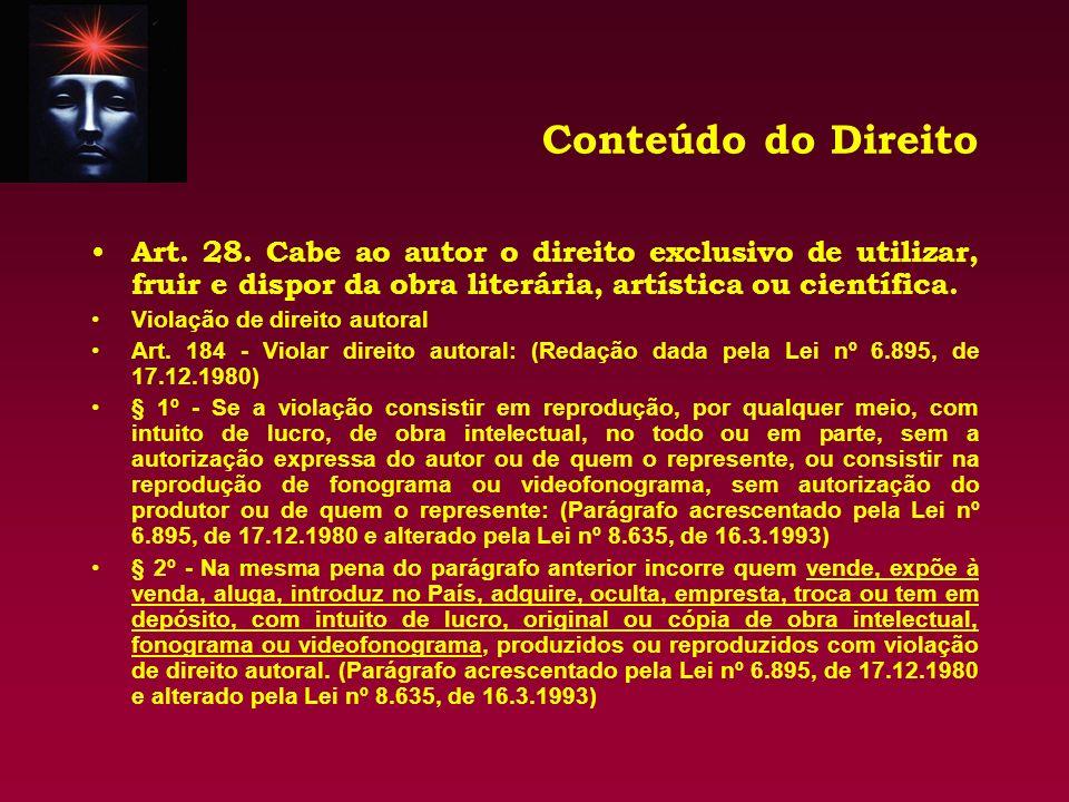 Conteúdo do Direito Art.29.
