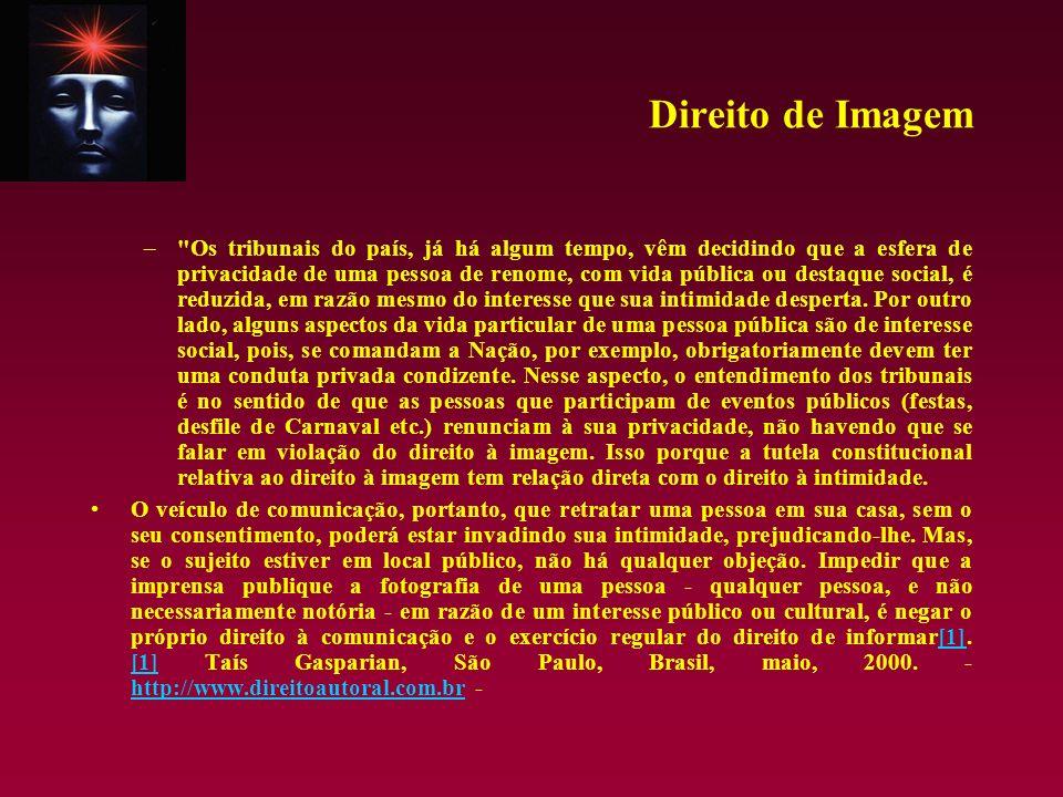 Direito de Imagem – DIREITO A IMAGEM.USO INDEVIDO.