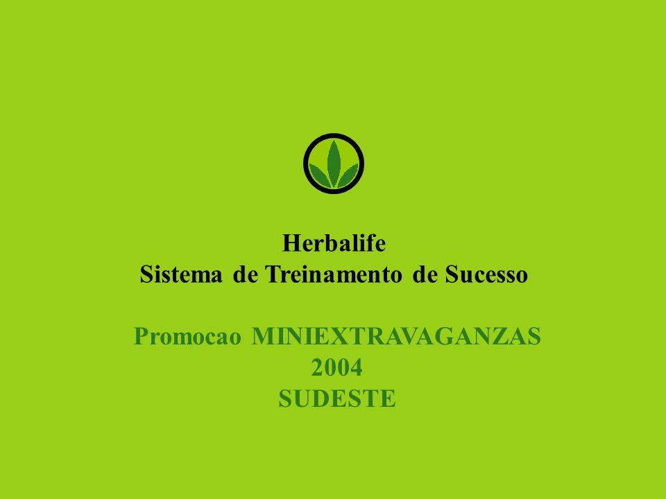 Herbalife Sistema de Treinamento de Sucesso Promocao MINIEXTRAVAGANZAS 2004 SUDESTE