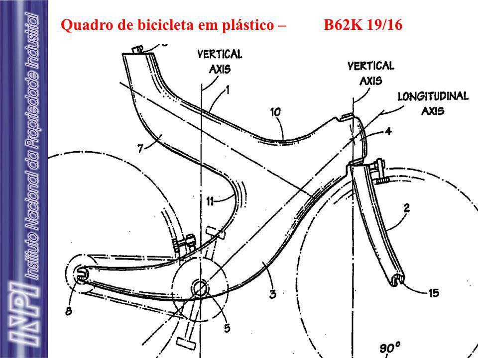 Quadro de bicicleta em plástico –B62K 19/16