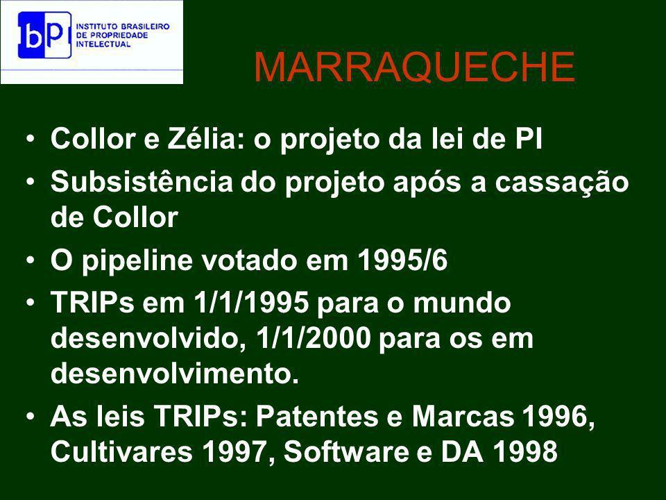 A situação política No Congresso, aqueles que defendiam sua inclusão observavam que, desta forma, o pais tranqüilizaria empresas estrangeiras - especialmente os laboratórios farmacêuticos - que estariam temerosas de investir no Brasil, alegando fragilidade de proteção à propriedade intelectual.