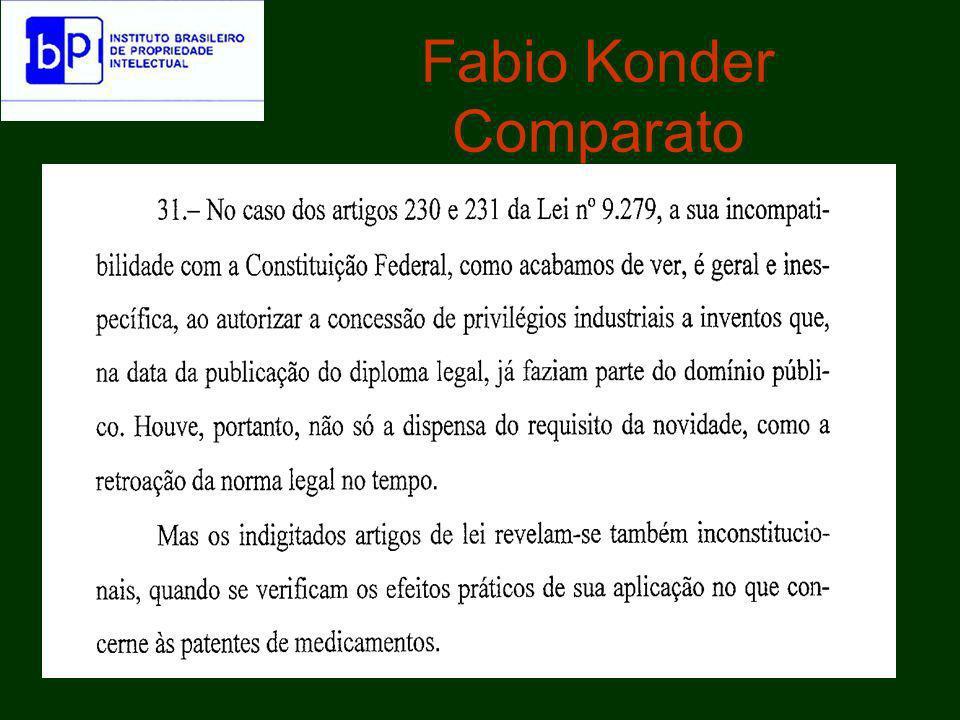 Manifestação da PGR sobre a ADIN 47.Denis Borges Barbosa observa a respeito da norma constitucional de que ora se fala e do princípio da exclusividade sobre o novo: –O fundamento da tutela será o invento novo e industrial.
