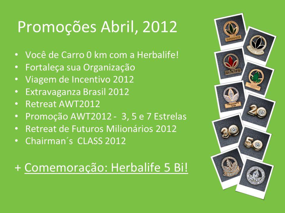 Promoções Abril, 2012 Você de Carro 0 km com a Herbalife! Fortaleça sua Organização Viagem de Incentivo 2012 Extravaganza Brasil 2012 Retreat AWT2012