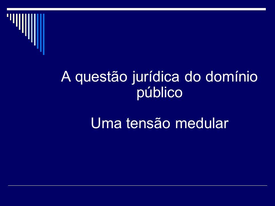 A questão jurídica do domínio público Uma tensão medular