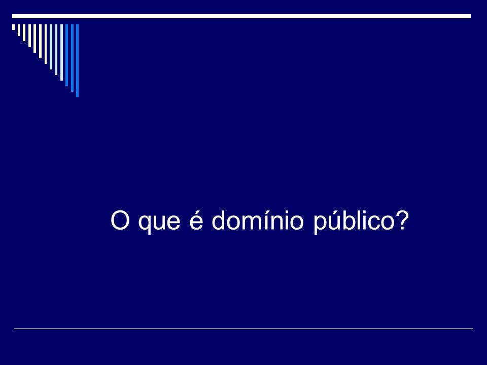 O que é domínio público?