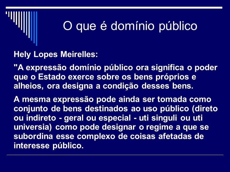 O que é domínio público Hely Lopes Meirelles: