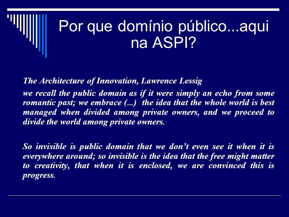 A questão econômica do domínio público
