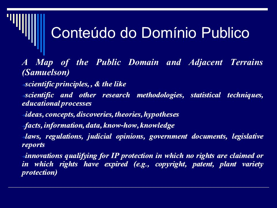 Conteúdo do Domínio Publico A Map of the Public Domain and Adjacent Terrains (Samuelson) scientific principles,, & the like scientific and other resea
