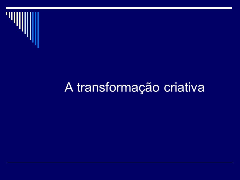 A transformação criativa