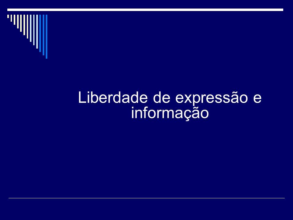 Liberdade de expressão e informação