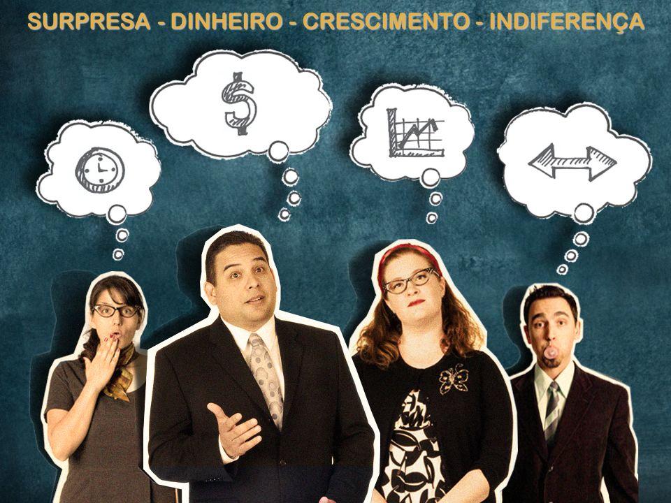 14 SURPRESA - DINHEIRO - CRESCIMENTO - INDIFERENÇA