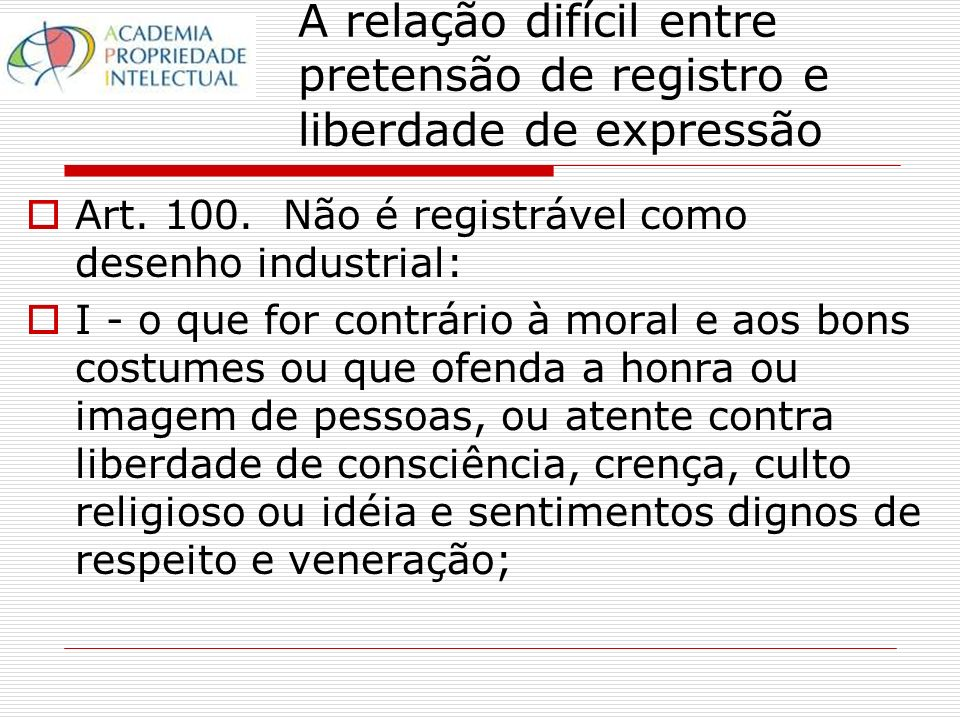 Marca e direito à expressão No entanto, vide a observação de Jason Bosland, The Culture of Trade Marks: An Alternative Cultural Theory Perspective, http://papers.ssrn.com/sol3/papers.cfm?abstract_id=771184, vistado em 26/10/2006: http://papers.ssrn.com/sol3/papers.cfm?abstract_id=771184 The underlying difficulty with shaping a dilution right is balancing the competing interests in allowing the public to use a mark as an expressive resource through criticism or commentary, while at the same time, preventing harm which is adverse to a trade marks continued cultural use.