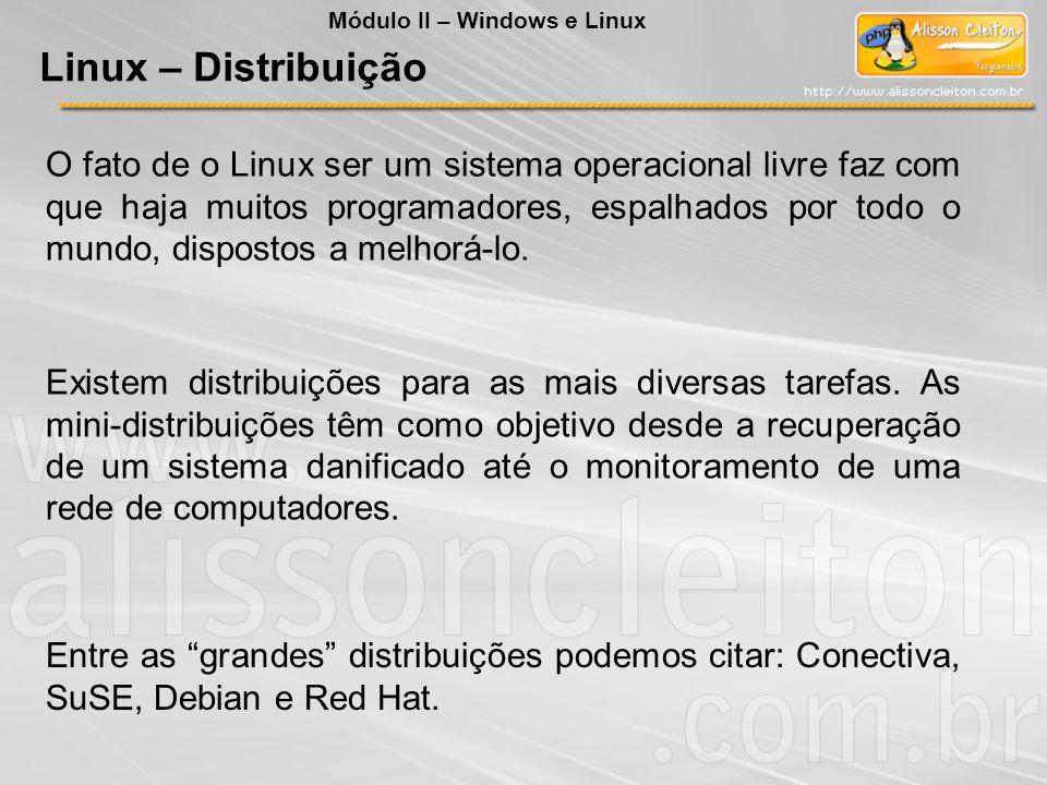 O fato de o Linux ser um sistema operacional livre faz com que haja muitos programadores, espalhados por todo o mundo, dispostos a melhorá-lo. Existem