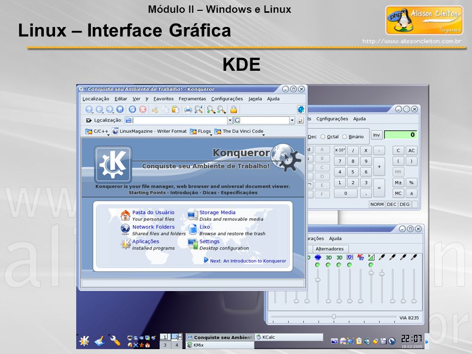 Linux – Interface Gráfica Módulo II – Windows e Linux KDE
