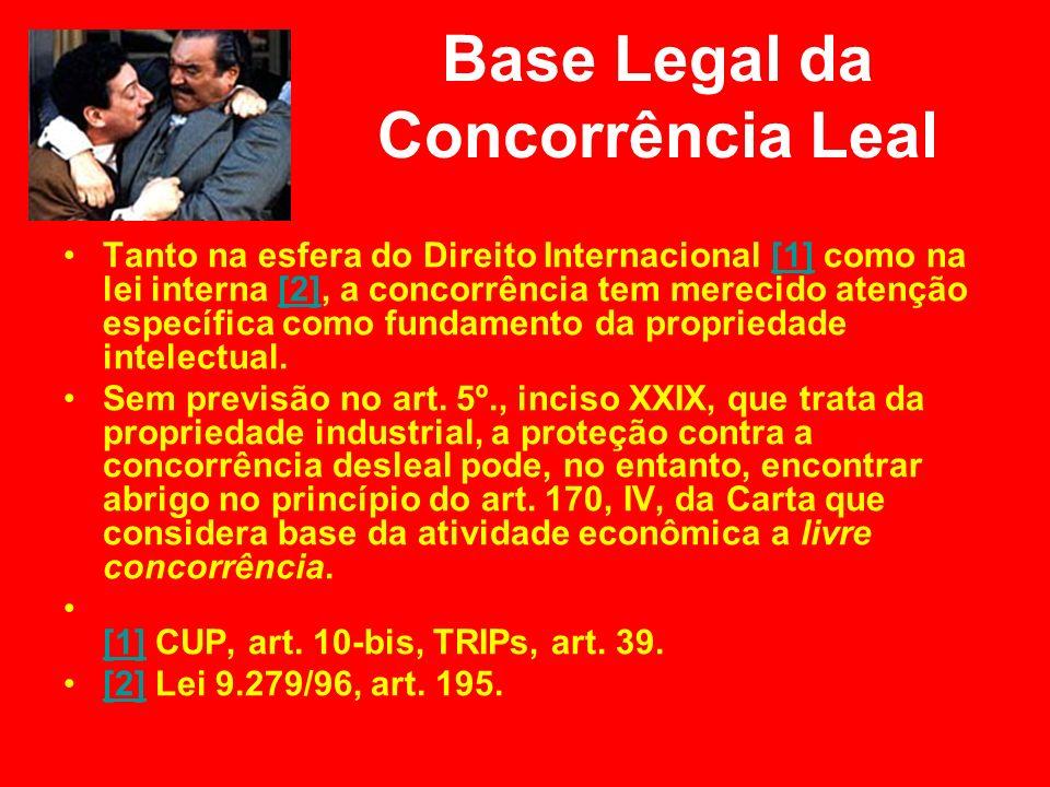 Base Legal da Concorrência Leal Tanto na esfera do Direito Internacional [1] como na lei interna [2], a concorrência tem merecido atenção específica c