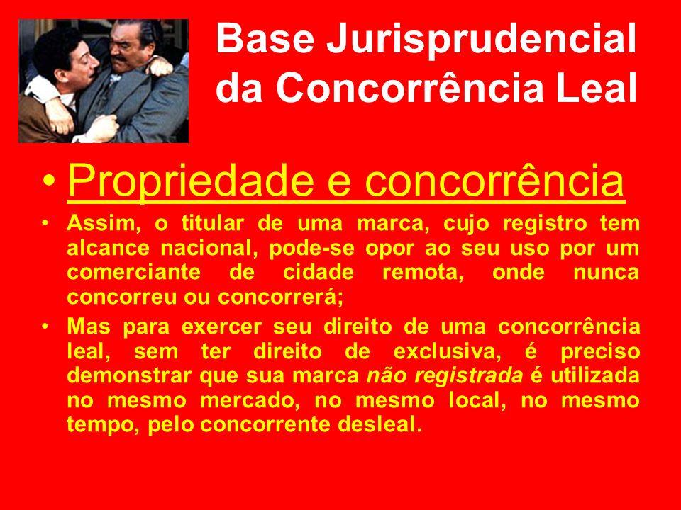 Base Jurisprudencial da Concorrência Leal Propriedade e concorrência Assim, o titular de uma marca, cujo registro tem alcance nacional, pode-se opor a