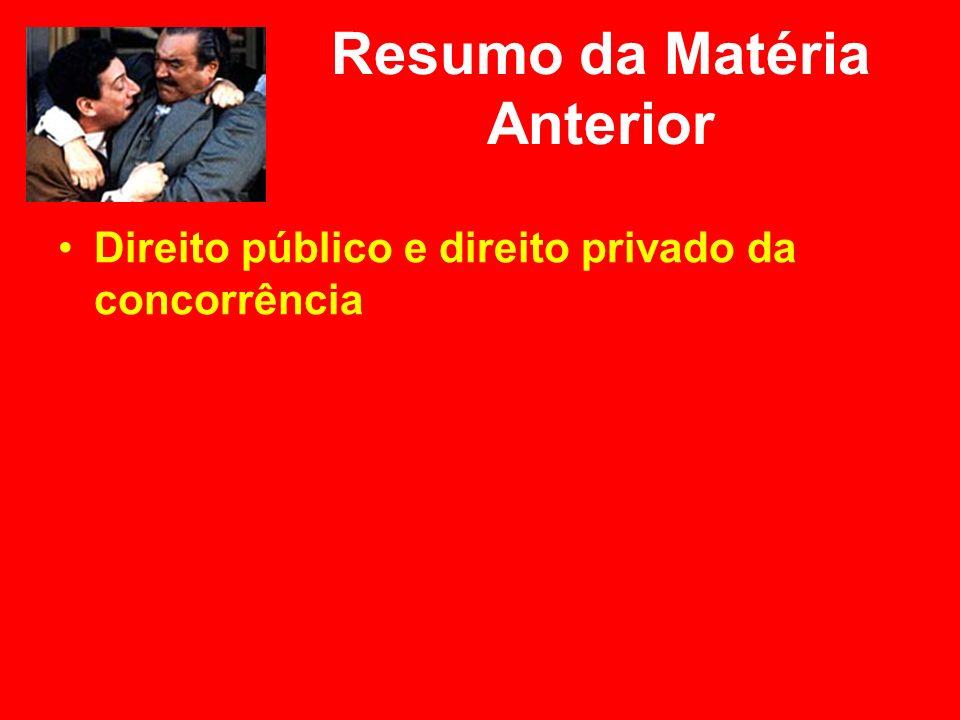 Restrições à concorrência e abuso do poder econômico Note-se que, pela Lei 8.884/94, em seu art.