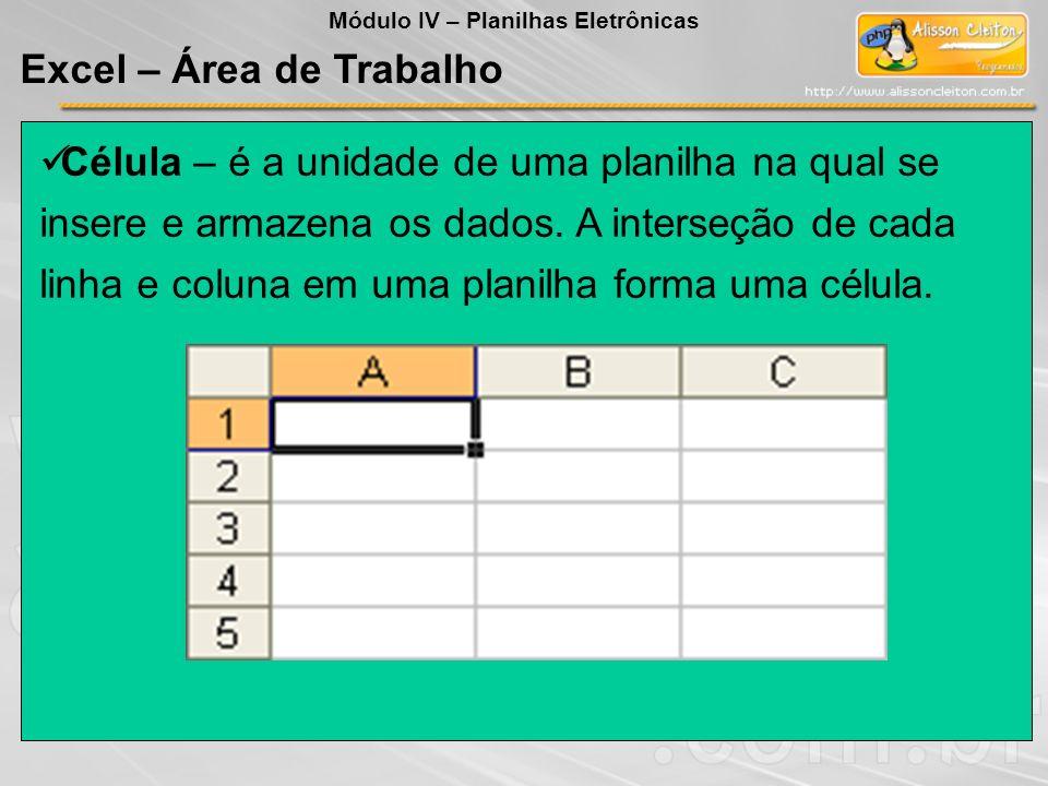 Um usuário recebeu uma planilha no Excel, conforme apresentada ao lado.