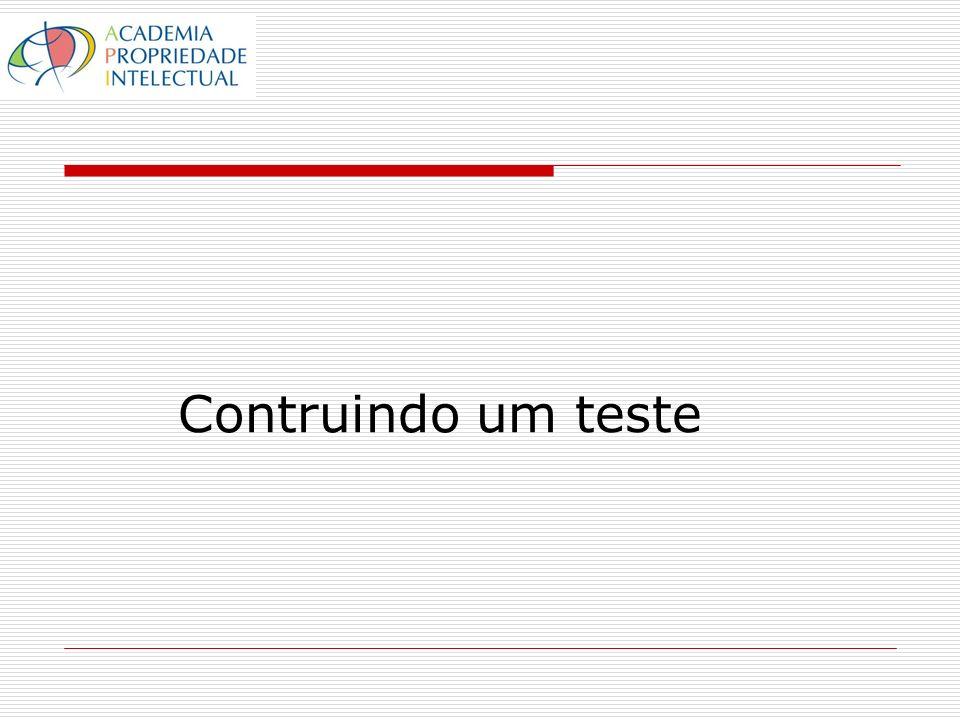 Contruindo um teste