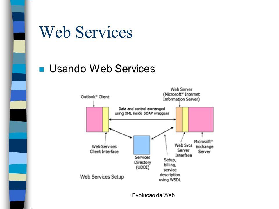 Evolucao da Web Web Services n Usando Web Services
