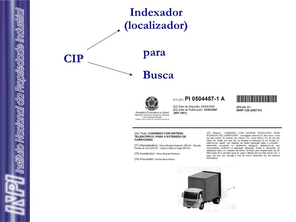Indexador (localizador) CIP Busca para