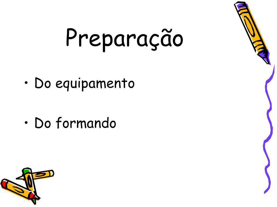 Preparação Do equipamento Do formando
