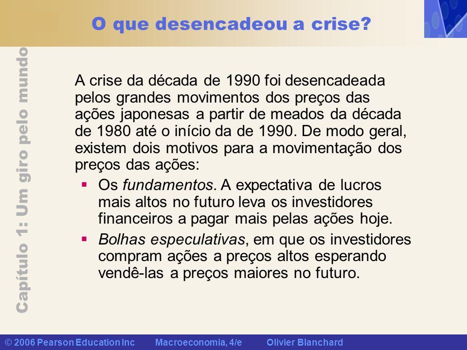 Capítulo 1: Um giro pelo mundo © 2006 Pearson Education Inc Macroeconomia, 4/e Olivier Blanchard O que desencadeou a crise? A crise da década de 1990