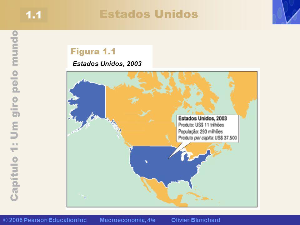 Capítulo 1: Um giro pelo mundo © 2006 Pearson Education Inc Macroeconomia, 4/e Olivier Blanchard 1.1 Estados Unidos, 2003 Figura 1.1 Estados Unidos