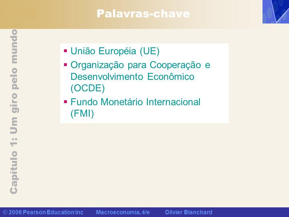 Capítulo 1: Um giro pelo mundo © 2006 Pearson Education Inc Macroeconomia, 4/e Olivier Blanchard Palavras-chave União Européia (UE) Organização para C