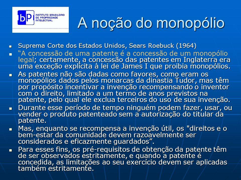 A noção do monopólio Suprema Corte dos Estados Unidos, Sears Roebuck (1964) Suprema Corte dos Estados Unidos, Sears Roebuck (1964) ; certamente, a con