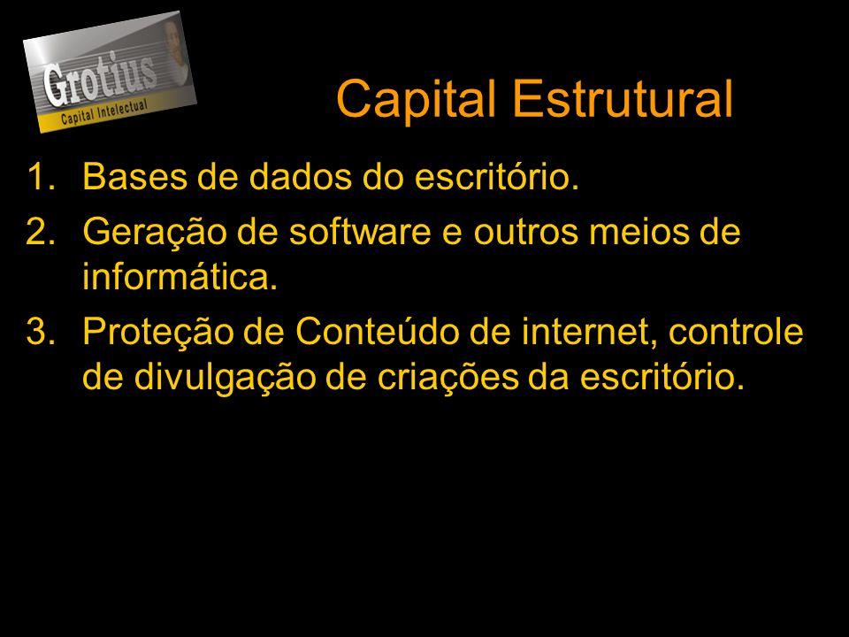 Capital Estrutural 1.Bases de dados do escritório. 2.Geração de software e outros meios de informática. 3.Proteção de Conteúdo de internet, controle d