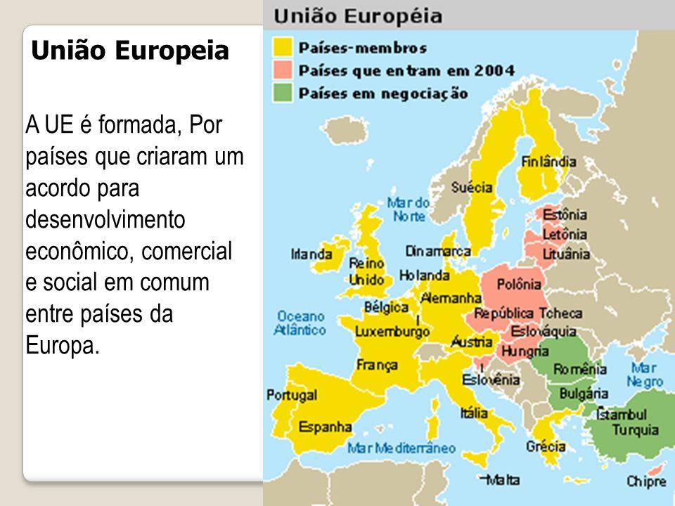 ORIGEM A União Europeia (UE), originalmente chamada de Comunidade Econômica Europeia (CEE), estabelecida pelo Tratado da União Europeia, é constituída atualmente por 27 países membros.