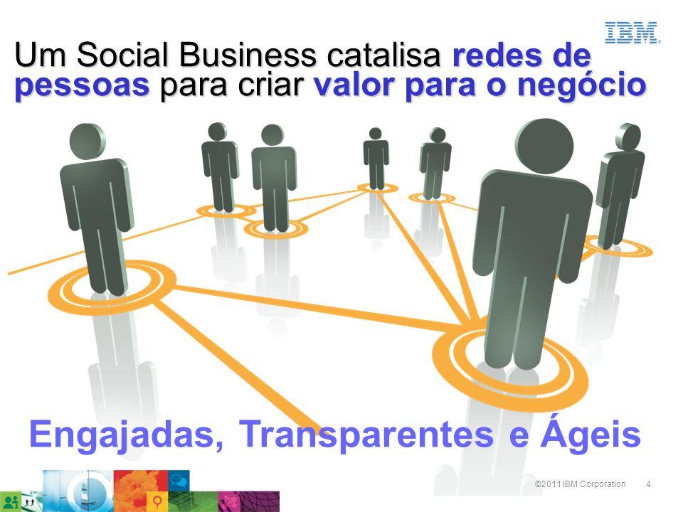 4©2011 IBM Corporation Um Social Business catalisa redes de pessoas para criar valor para o negócio Engajadas, Transparentes e Ágeis