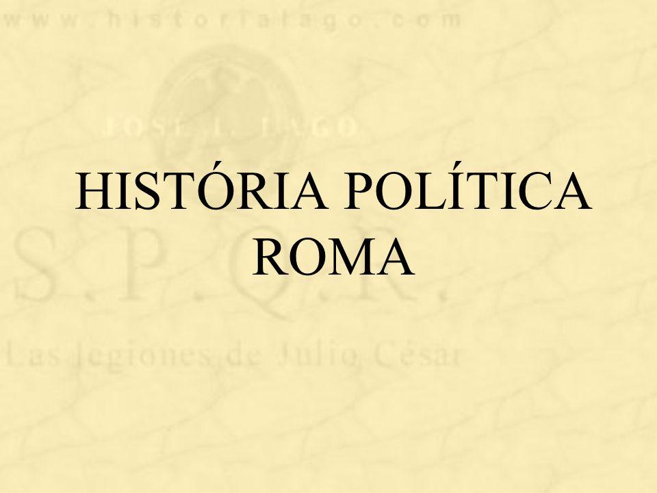 HISTÓRIA POLÍTICA ROMA