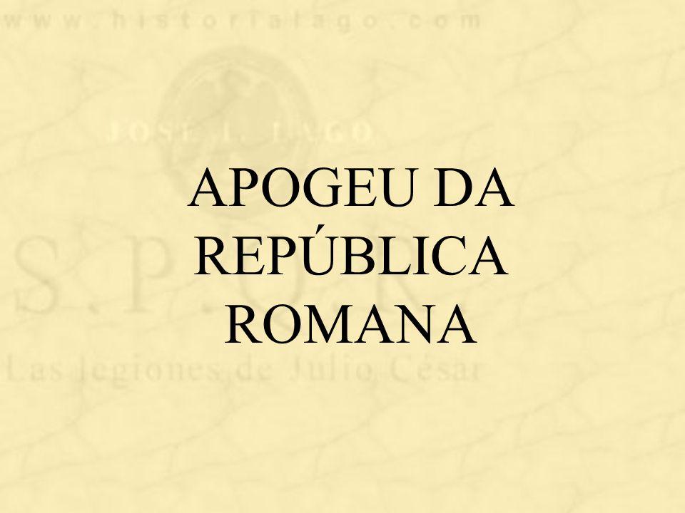 APOGEU DA REPÚBLICA ROMANA