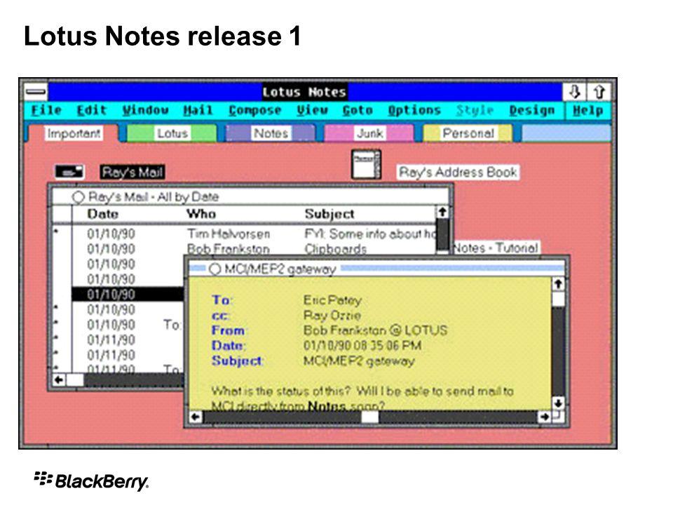 Compatibilidade com o FaceTime Proxy* Lista de conversação para Chats em Grupo Suporte à autenticação NTLMv2 (segurança) Sensor de presença nas aplicações core do seu BlackBerry** * With BlackBerry Enterprise Server 5.0.1 ** With BlackBerry HH Code 5.0.2+ Lotus Sametime no seu BlackBerry