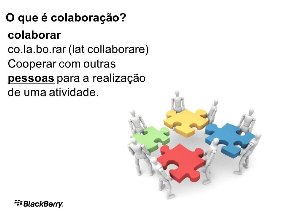 O que é colaboração.