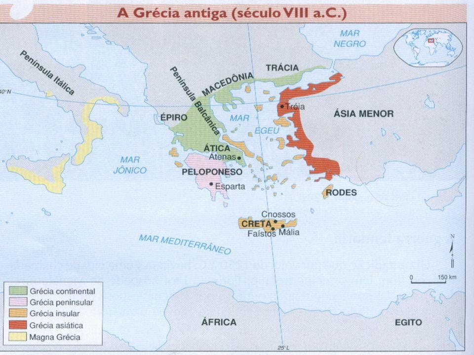 LOCALIZAÇÃO Concentrou-se ao sul da Pen í nsula Balcânica, nas ilhas do Mar Egeu e no litoral da Á sia Menor.
