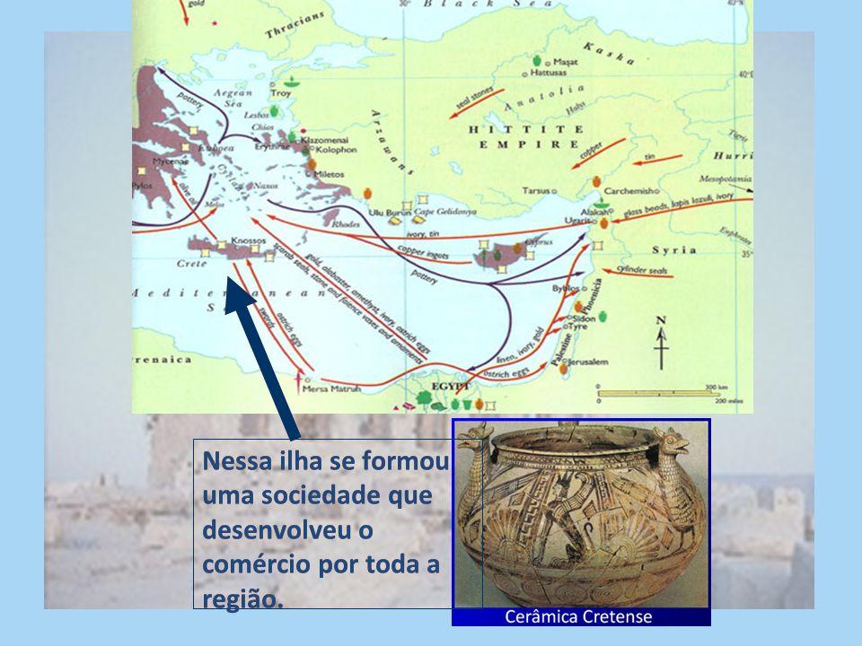 Tudo começou na ilha de Creta.