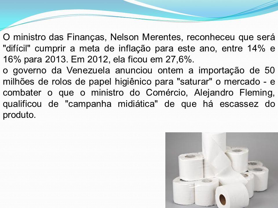 O ministro das Finanças, Nelson Merentes, reconheceu que será