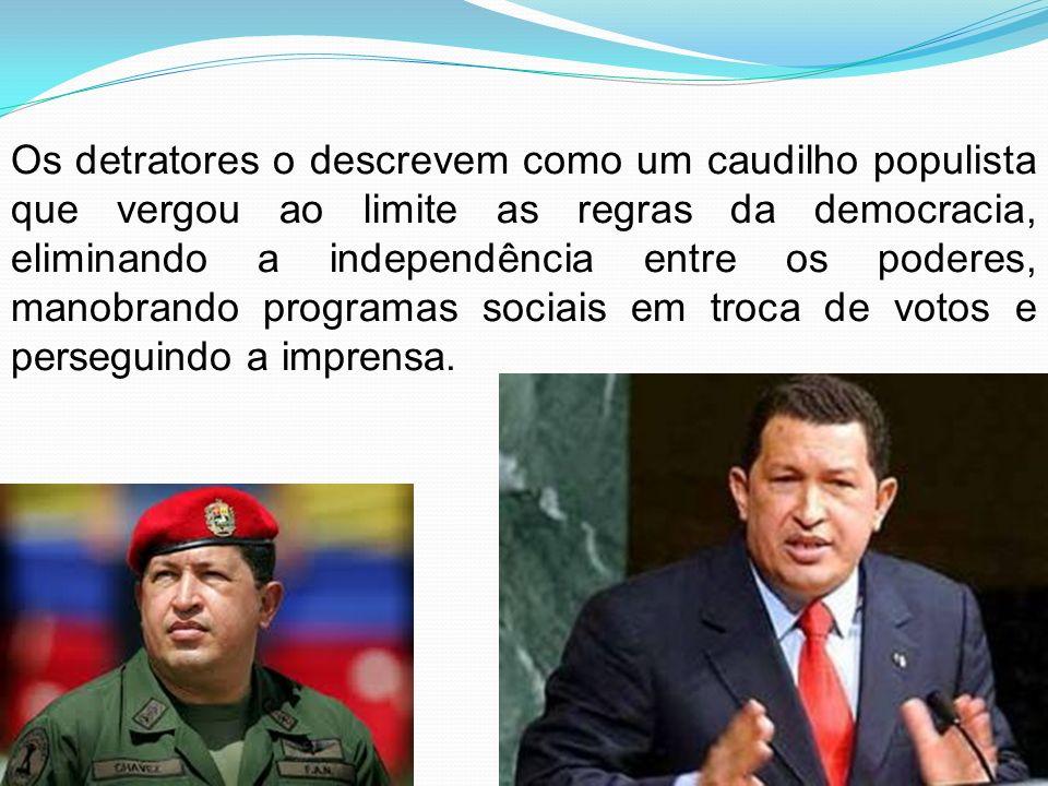 Chávez apareceu pela primeira vez no cenário político venezuelano ao tentar derrubar o então presidente Carlos Andrés Pérez em um golpe de Estado frustrado, em 1992.