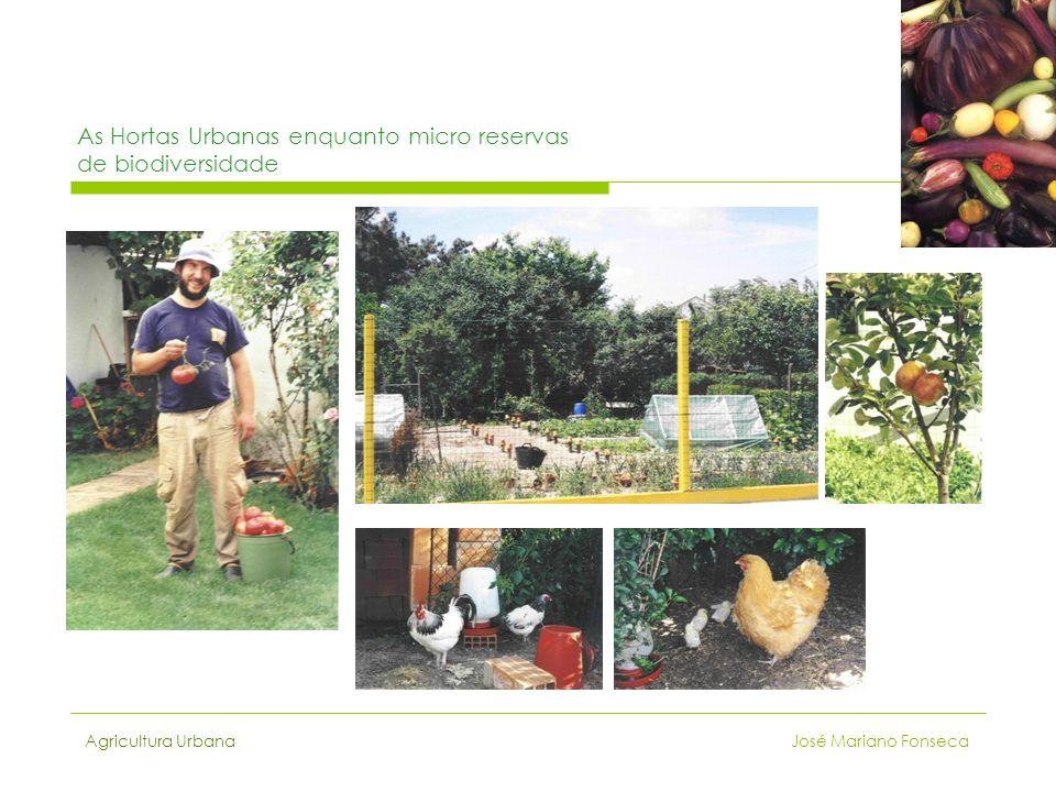 Agricultura Urbana José Mariano Fonseca As Hortas Urbanas enquanto micro reservas de biodiversidade