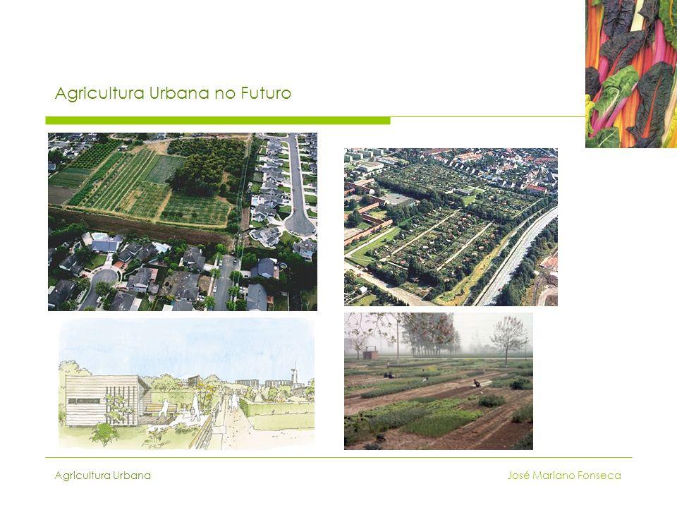 Agricultura Urbana José Mariano Fonseca Agricultura Urbana no Futuro