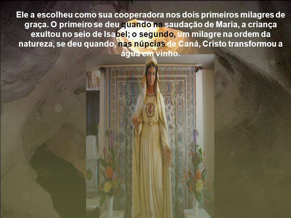 O Filho de Deus, por sua vez, tornou a sua santíssima Mãe objeto de evidentes demonstrações de honra.