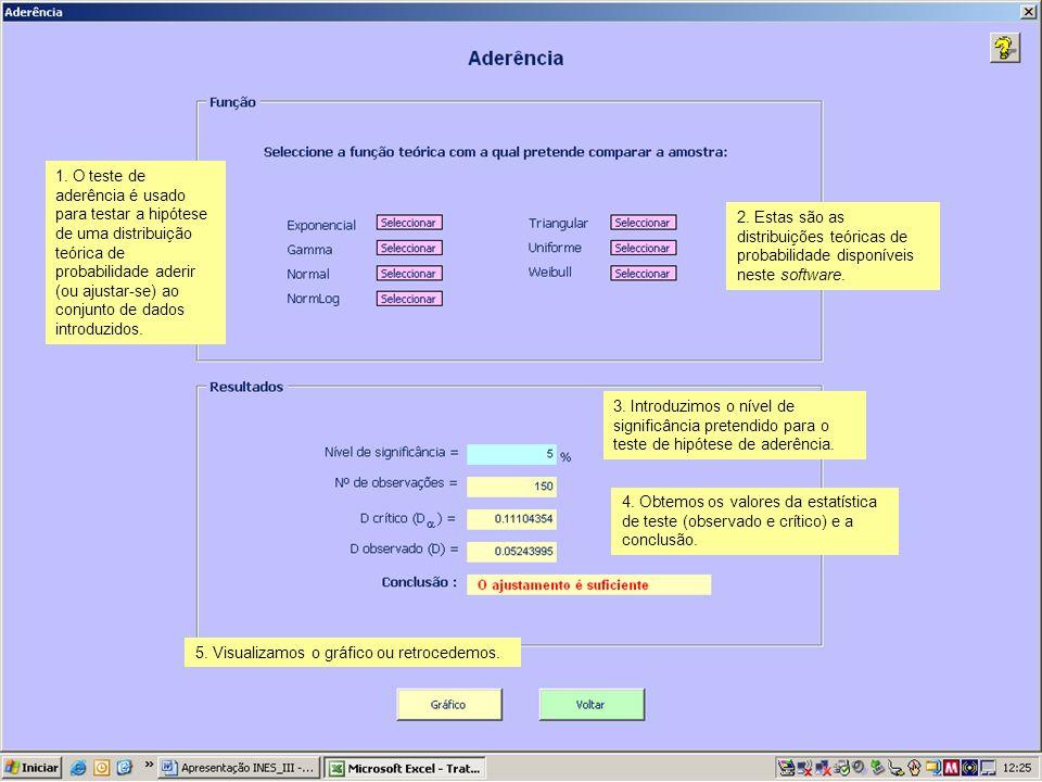 1. O teste de aderência é usado para testar a hipótese de uma distribuição teórica de probabilidade aderir (ou ajustar-se) ao conjunto de dados introd