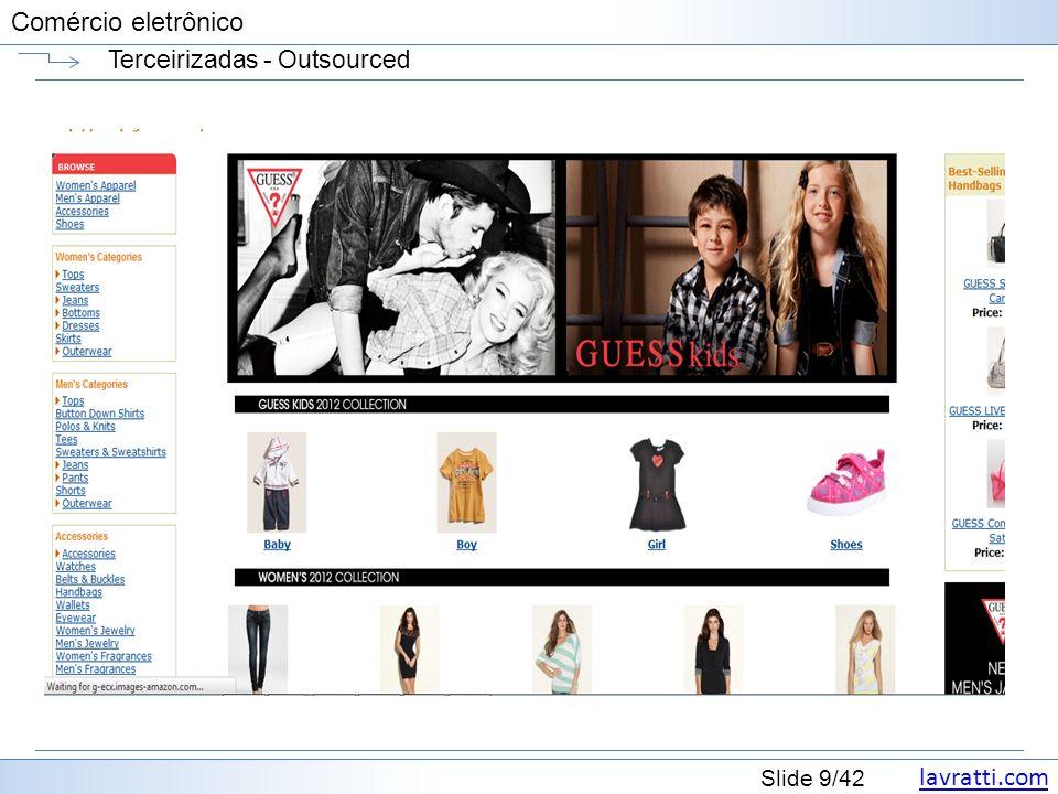 lavratti.com Slide 9/42 Comércio eletrônico Terceirizadas - Outsourced